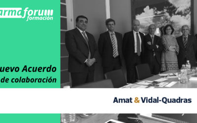 Farmaforum Formación firma un acuerdo de colaboración con Amat & Vidal-Quadras