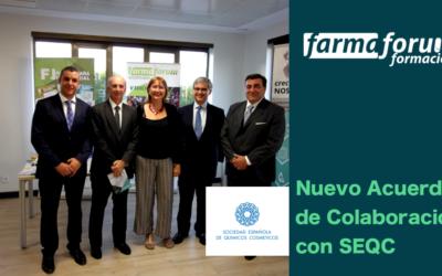 FEF firma un convenio de colaboración con la Sociedad Española de Químicos y Cosméticos (SEQC)