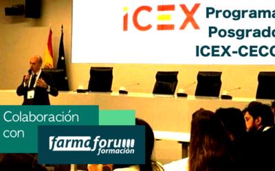 Farmafórum Formación colabora con el programa de posgrado ICEX-CECO