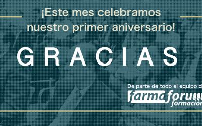 ¡En Farmafórum Formación celebramos este mes nuestro primer aniversario!